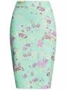 Юбка-карандаш из фактурной ткани oodji #SECTION_NAME# (бирюзовый), 14101088-1/42588/6580F