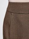Юбка короткая с карманами oodji #SECTION_NAME# (бежевый), 11605056-2B/22124/3339C - вид 4