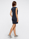 Платье из ткани пике oodji #SECTION_NAME# (синий), 14005074-1/45602/7900N - вид 3
