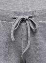 Шорты из хлопка на резинке oodji для женщины (серый), 59807064/50017/2300M