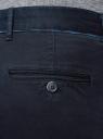 Брюки-чиносы с контрастной отделкой oodji для мужчины (синий), 2L150134M/34358N/7900N