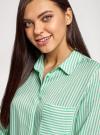 Блузка вискозная с нагрудным карманом oodji #SECTION_NAME# (зеленый), 11401275-1/24681/6C10S - вид 4