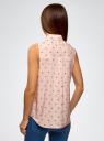 Топ хлопковый с рюшами oodji #SECTION_NAME# (розовый), 14911013/13175N/4129O - вид 3