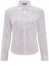 Рубашка хлопковая с манишкой oodji #SECTION_NAME# (белый), 21405133/42083/1000N