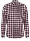 Рубашка хлопковая с нагрудным карманом oodji #SECTION_NAME# (красный), 3L310187M/49364N/7945C