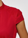 Рубашка с коротким рукавом из хлопка oodji #SECTION_NAME# (красный), 11403196-3/26357/4500N - вид 5