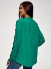 Блузка вискозная А-образного силуэта oodji #SECTION_NAME# (зеленый), 21411113-1B/48458/6D00N - вид 3