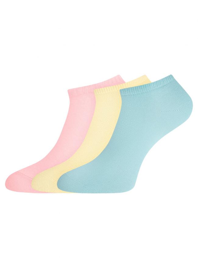 Комплект из трех пар укороченных носков oodji для женщины (разноцветный), 57102433T3/47469/112