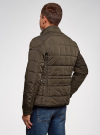Куртка стеганая с накладными карманами oodji #SECTION_NAME# (коричневый), 1L111044M/39877N/3900N - вид 3