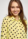 Блузка вискозная прямого силуэта oodji #SECTION_NAME# (желтый), 11411098-3/24681/5029D - вид 4