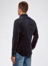 Рубашка slim из вельвета oodji #SECTION_NAME# (синий), 3L110218M/44424N/7900N - вид 3