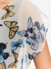 Блузка комбинированная с принтом oodji #SECTION_NAME# (белый), 21400311-7/15018/1219P - вид 5