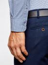 Рубашка приталенного силуэта принтованная oodji #SECTION_NAME# (синий), 3L110260M/19370N/7975G - вид 5