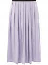 Юбка в складку с запахом oodji #SECTION_NAME# (фиолетовый), 13G00003B/42662/8000N