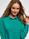 Блузка базовая из вискозы oodji #SECTION_NAME# (зеленый), 11411136B/26346/6D00N - вид 4