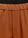 Брюки на эластичном поясе с лампасами oodji для женщины (коричневый), 11703097/42830/3129B