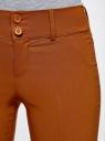 Брюки стретч узкие oodji #SECTION_NAME# (коричневый), 11700212/14007/3100N - вид 4