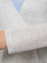 Кардиган вязаный без застежки oodji для женщины (серый), 63212577/46629/2000M