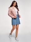 Куртка стеганая с круглым вырезом oodji для женщины (розовый), 10203072B/42257/4B19F - вид 6