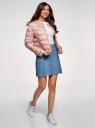 Куртка стеганая с круглым вырезом oodji #SECTION_NAME# (розовый), 10203072B/42257/4B19F - вид 6