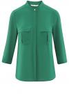 Блузка базовая из шифона oodji #SECTION_NAME# (зеленый), 11403225B/45227/6E00N