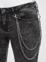 Джинсы skinny с молниями по низу oodji для женщины (черный), 12106143/46920/2900W
