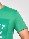 Футболка с принтом oodji #SECTION_NAME# (зеленый), 5L611023I/44135N/6212P - вид 5
