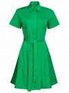 Платье-рубашка с поясом oodji #SECTION_NAME# (зеленый), 21900311/42358/6D00N