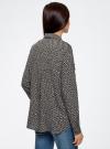 Блузка базовая из вискозы с нагрудными карманами oodji #SECTION_NAME# (черный), 11411127B/26346/2933G - вид 3