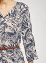 Платье вискозное с ремнем oodji #SECTION_NAME# (синий), 11900180B/42540/7933O - вид 5