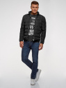 Куртка стеганая с воротником-стойкой oodji #SECTION_NAME# (черный), 1B111005M/48961N/2900N - вид 6