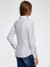 Рубашка приталенная с нагрудными карманами oodji #SECTION_NAME# (белый), 11403222-3/42468/1000N - вид 3