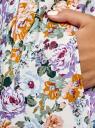 Платье хлопковое без рукавов oodji для женщины (разноцветный), 11913058/13175N/3041F