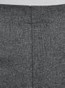 Брюки укороченные на эластичном поясе oodji для женщины (серый), 11706203-5B/14917/2500M