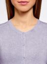 Жакет вязаный на пуговицах oodji #SECTION_NAME# (фиолетовый), 73212401-1B/45904/8000M - вид 4