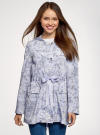 Куртка удлиненная на кулиске oodji для женщины (синий), 11D03006/24058/7012F - вид 2
