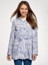 Куртка удлиненная на кулиске oodji #SECTION_NAME# (синий), 11D03006/24058/7012F - вид 2