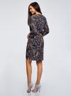 Платье вискозное с ремнем oodji #SECTION_NAME# (синий), 11900180B/48458/7919A - вид 3