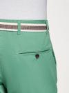 Шорты хлопковые с ремнем oodji #SECTION_NAME# (зеленый), 2B710011M/44213N/6500N - вид 5