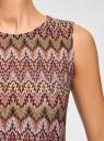 Топ из фактурной ткани с этническим узором oodji #SECTION_NAME# (розовый), 15F05004/45509/4749E - вид 5