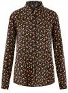 Блузка вискозная прямого силуэта oodji #SECTION_NAME# (черный), 11411098-3/24681/2931A