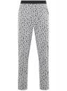 Брюки пижамные принтованные oodji для мужчины (серый), 7L400101I-1/47885N/2010G