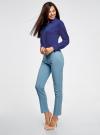 Блузка прямого силуэта с нагрудным карманом oodji #SECTION_NAME# (синий), 11411134B/46123/7501N - вид 6