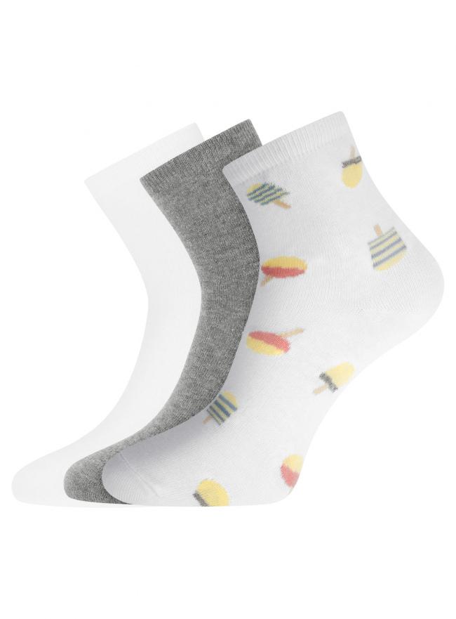 Комплект из трех пар носков oodji для женщины (разноцветный), 57102466T3/47469/20