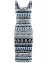 Платье-майка трикотажное oodji для женщины (синий), 14015007-2/47420/6510E