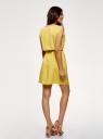 Платье вискозное без рукавов oodji #SECTION_NAME# (желтый), 11910073B/26346/5100N - вид 3