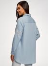 Рубашка джинсовая с вышивкой oodji #SECTION_NAME# (синий), 16A09009/42706/7000P - вид 3