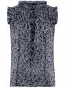 Топ принтованный из легкой ткани oodji для женщины (синий), 11411097/17358/7912F