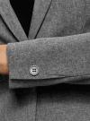 Жакет базовый приталенный oodji #SECTION_NAME# (серый), 11200286B/14917/2500M - вид 5