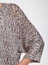 Кардиган свободного силуэта без застежки oodji #SECTION_NAME# (коричневый), 63205159-2/38189/2039M - вид 5